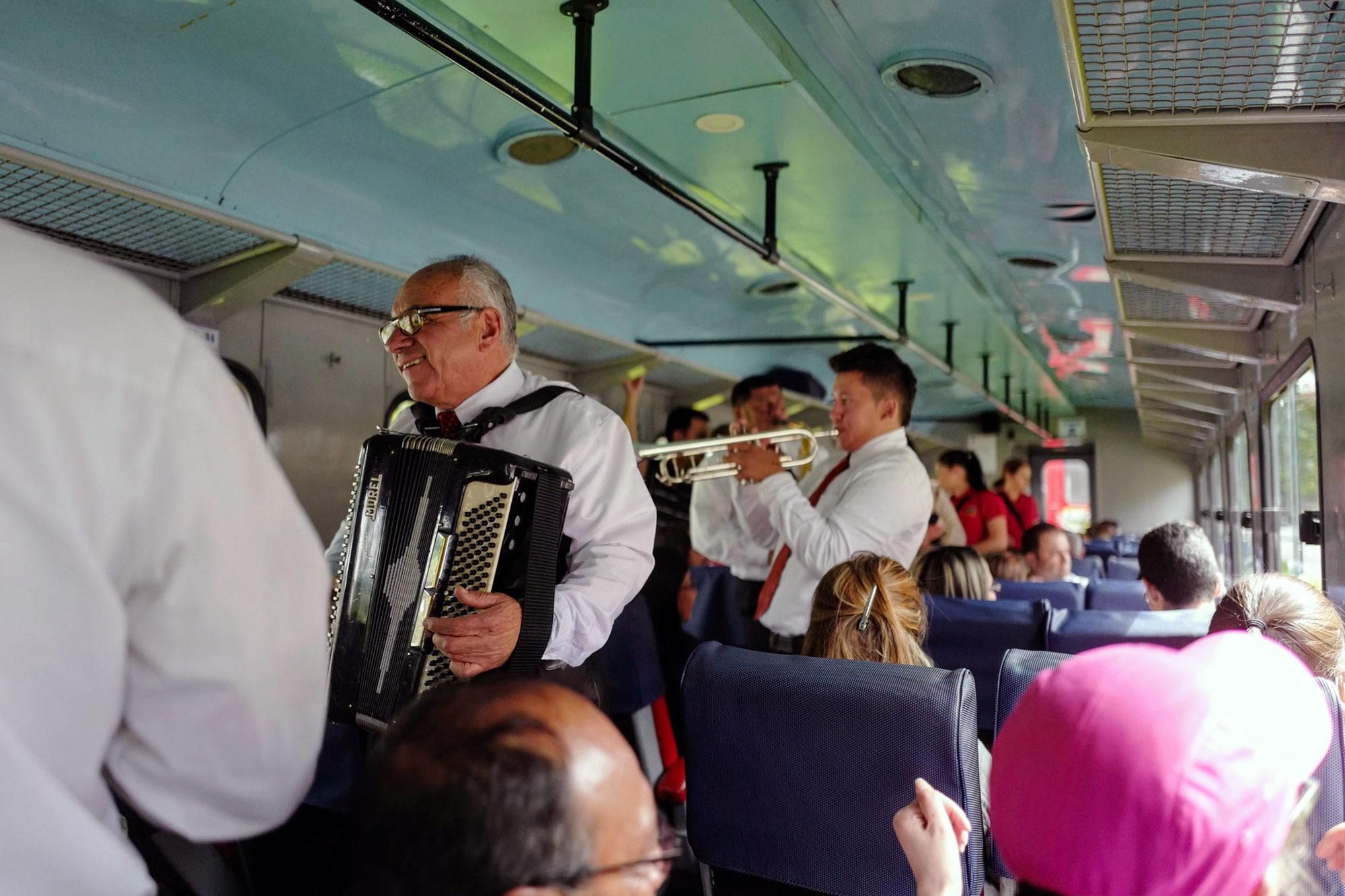Brass Band Playing in the Tren de la Sabana