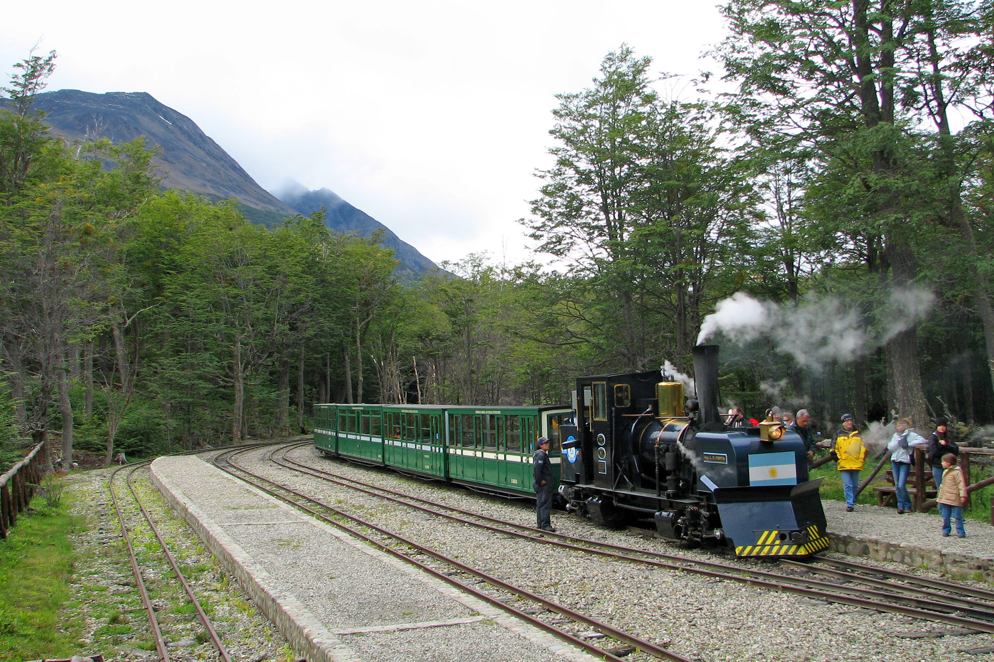 Steam Train on its way to the End of the World in Ushuaia
