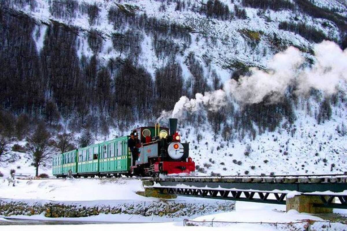 The Train to the End of the World in Ushuaia in Winter