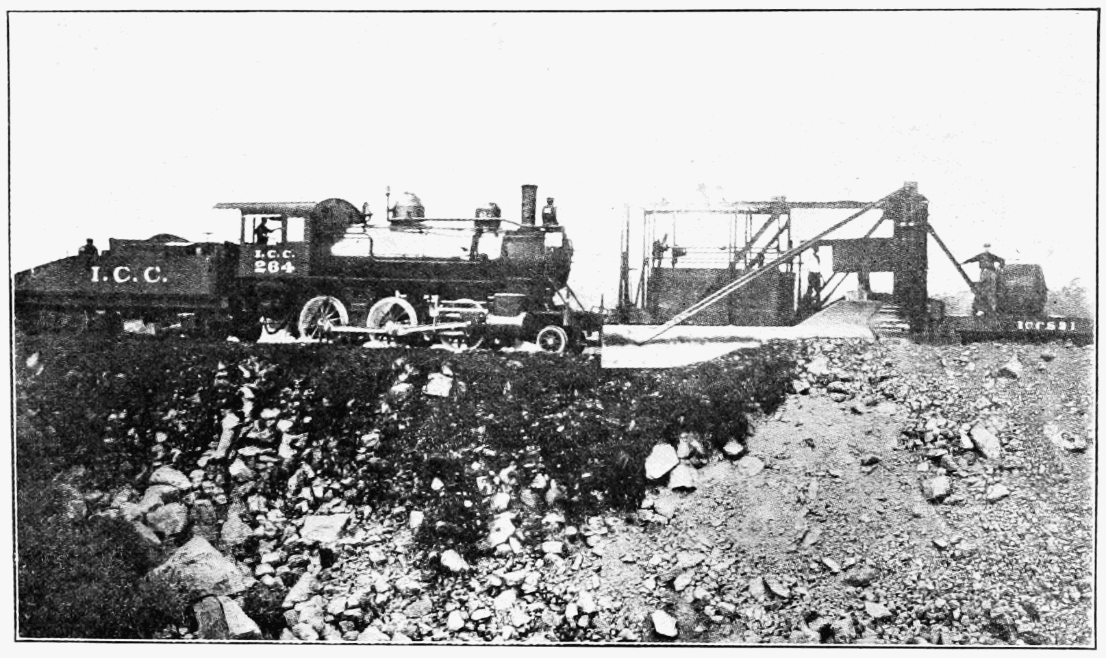 One of the rate photos of the Panama Railroad construction