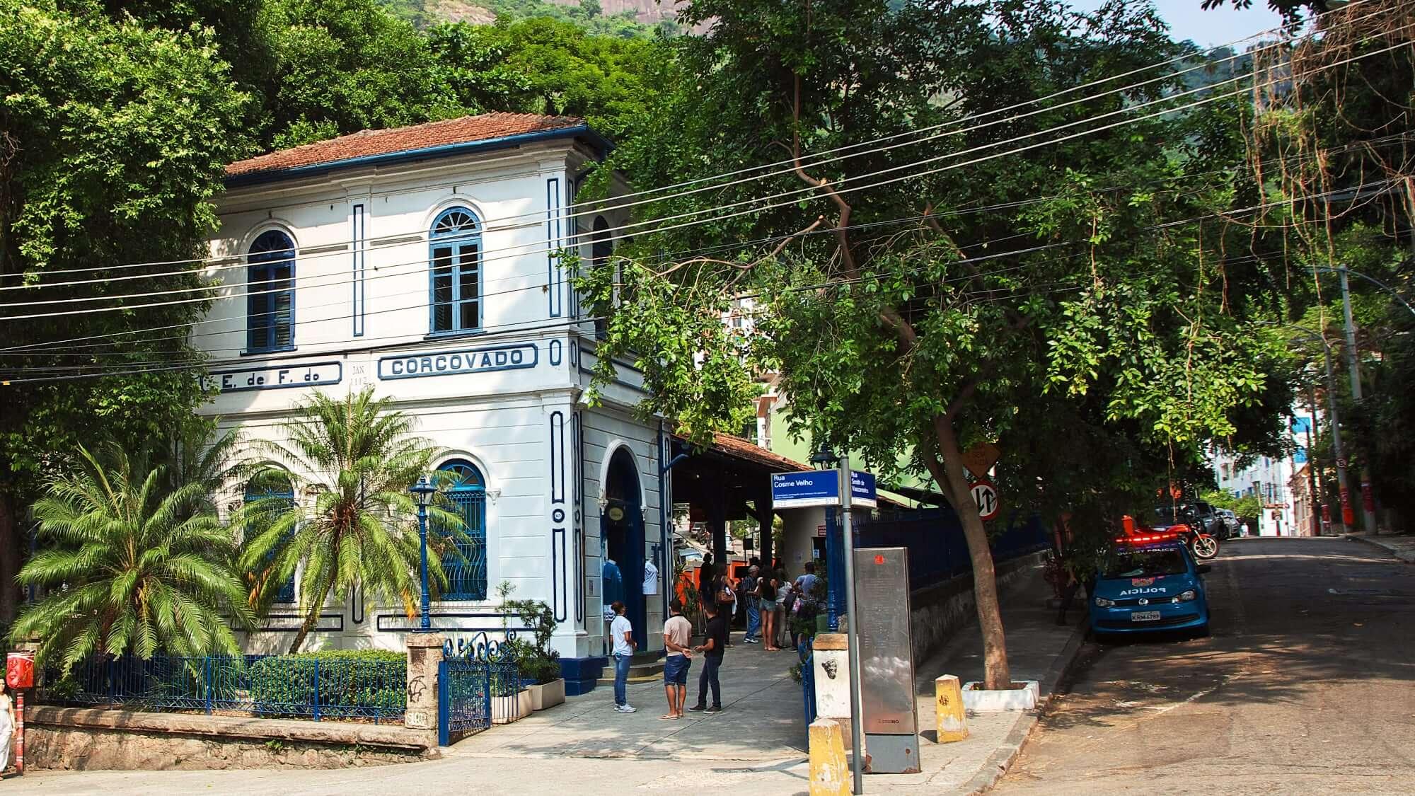 Cosme Velho Railway Station Terminus Corcovado Train