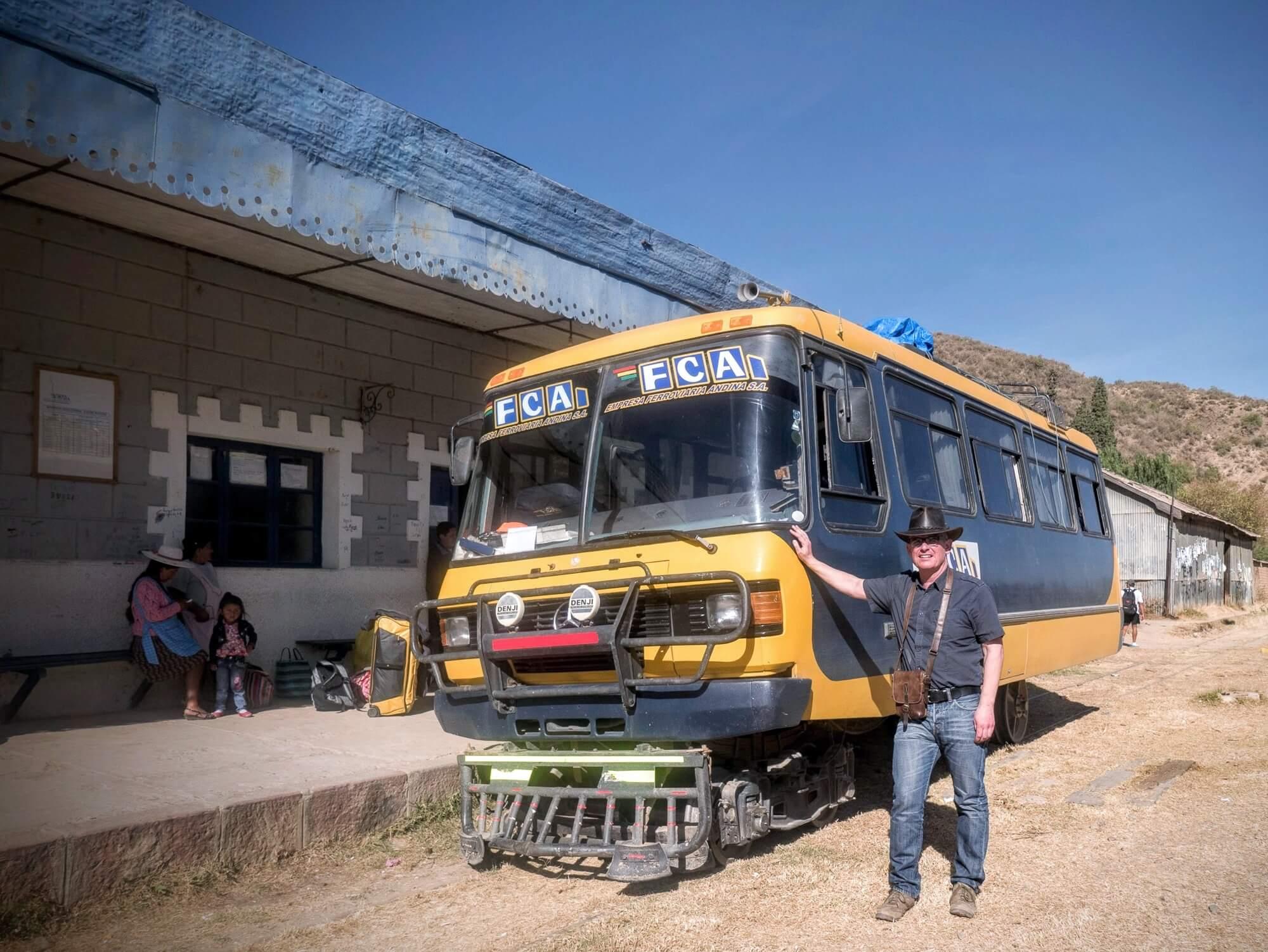 Ferrobus at the El Tejar Station near Sucre /Bolivia
