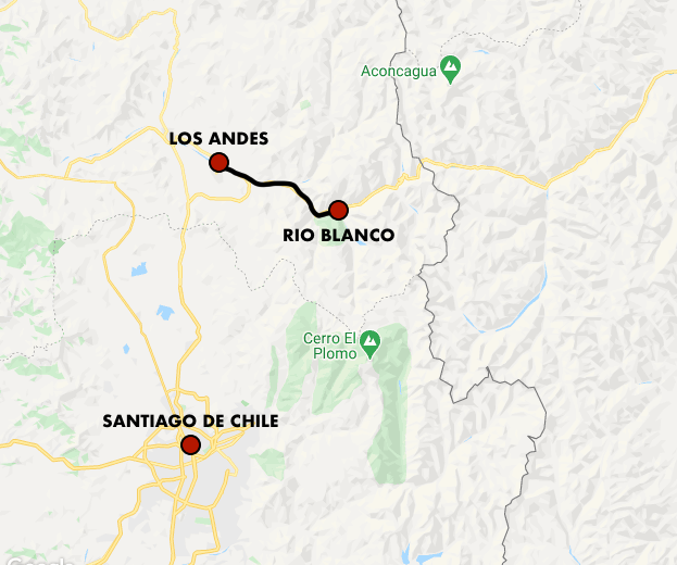 Map of the Gondola Carril in Chile