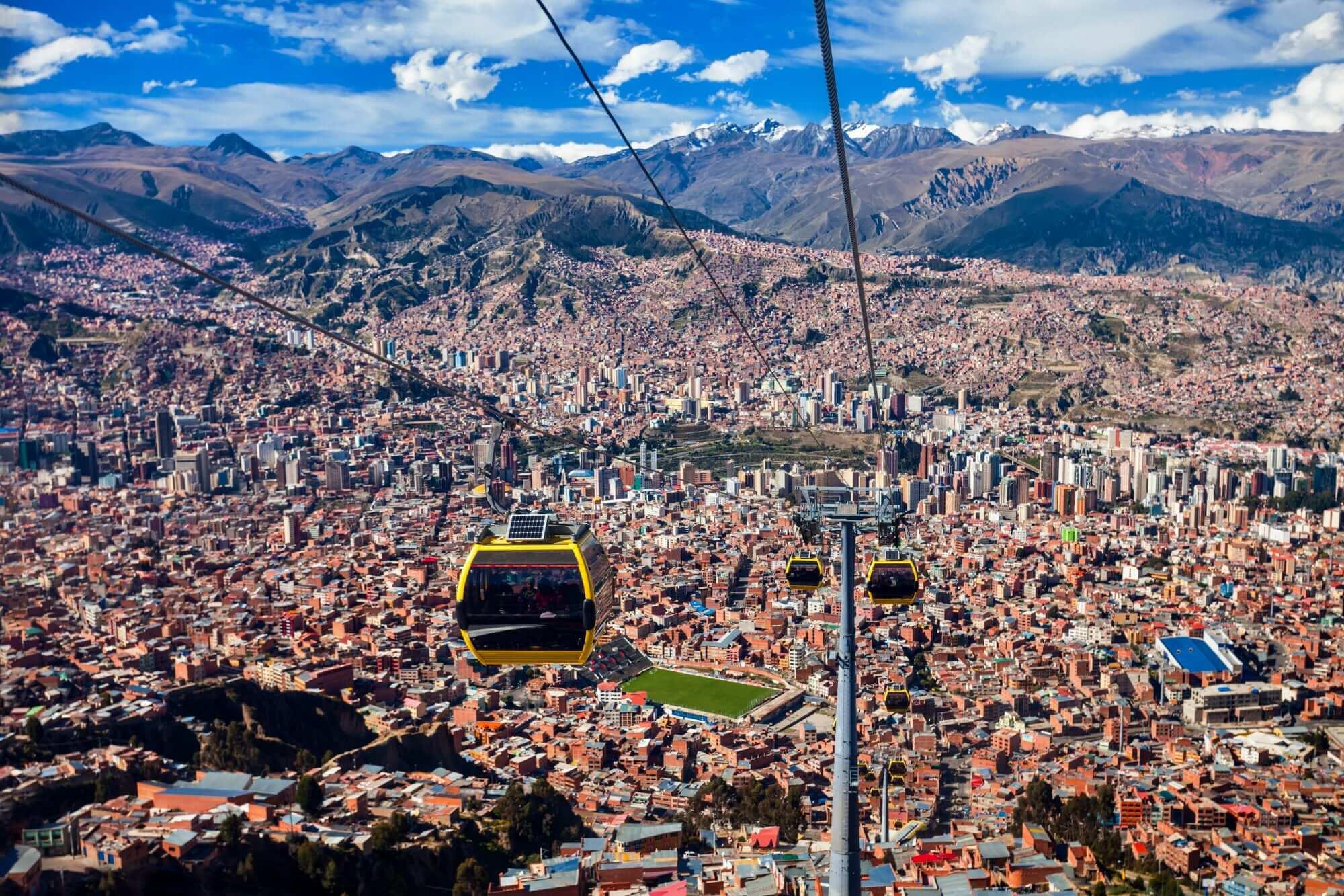 Teleferico in la Paz, Bolivia