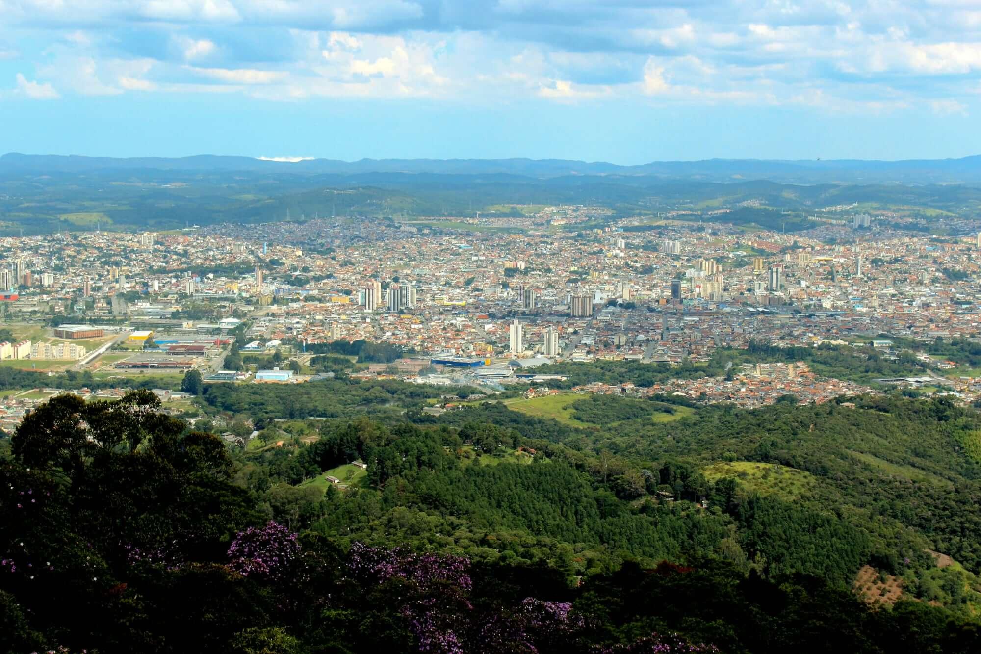 View from Pico do Urubu - Mogi das Cruzes, Brazil