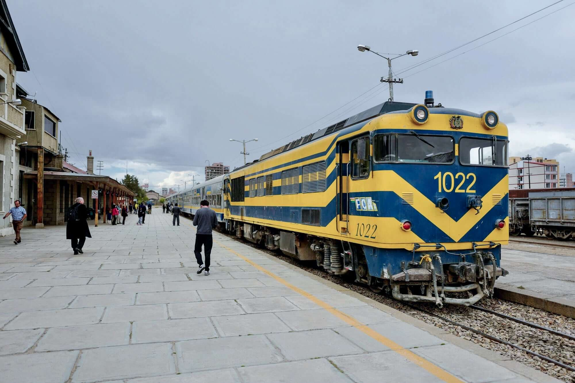 Expreso del Sur before departure at the Oruro Train Station, Bolivia