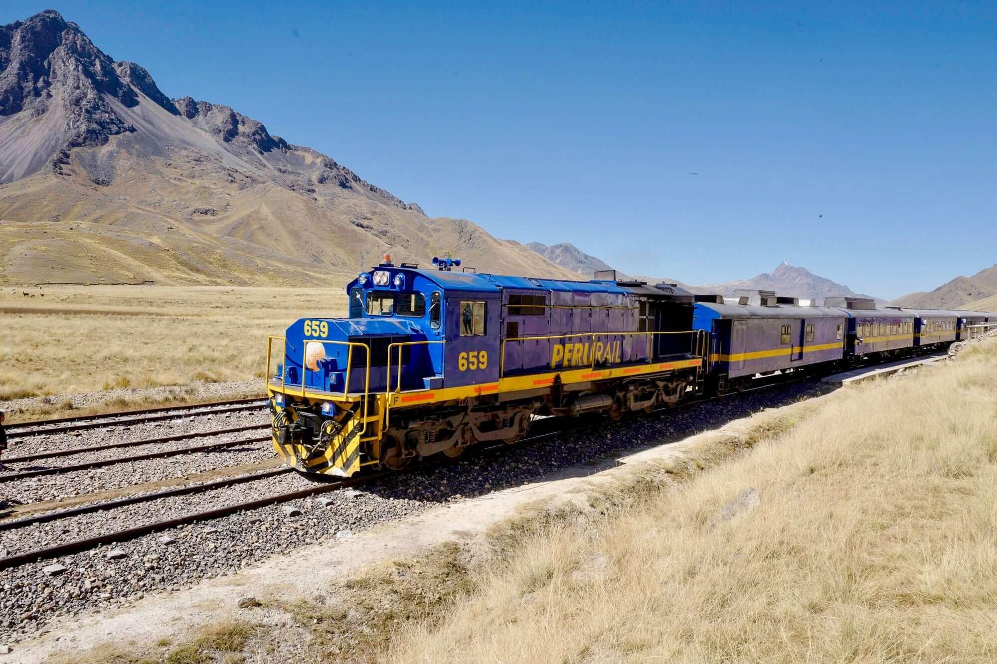 Perurail Titicaca Train in La Raya, Peru