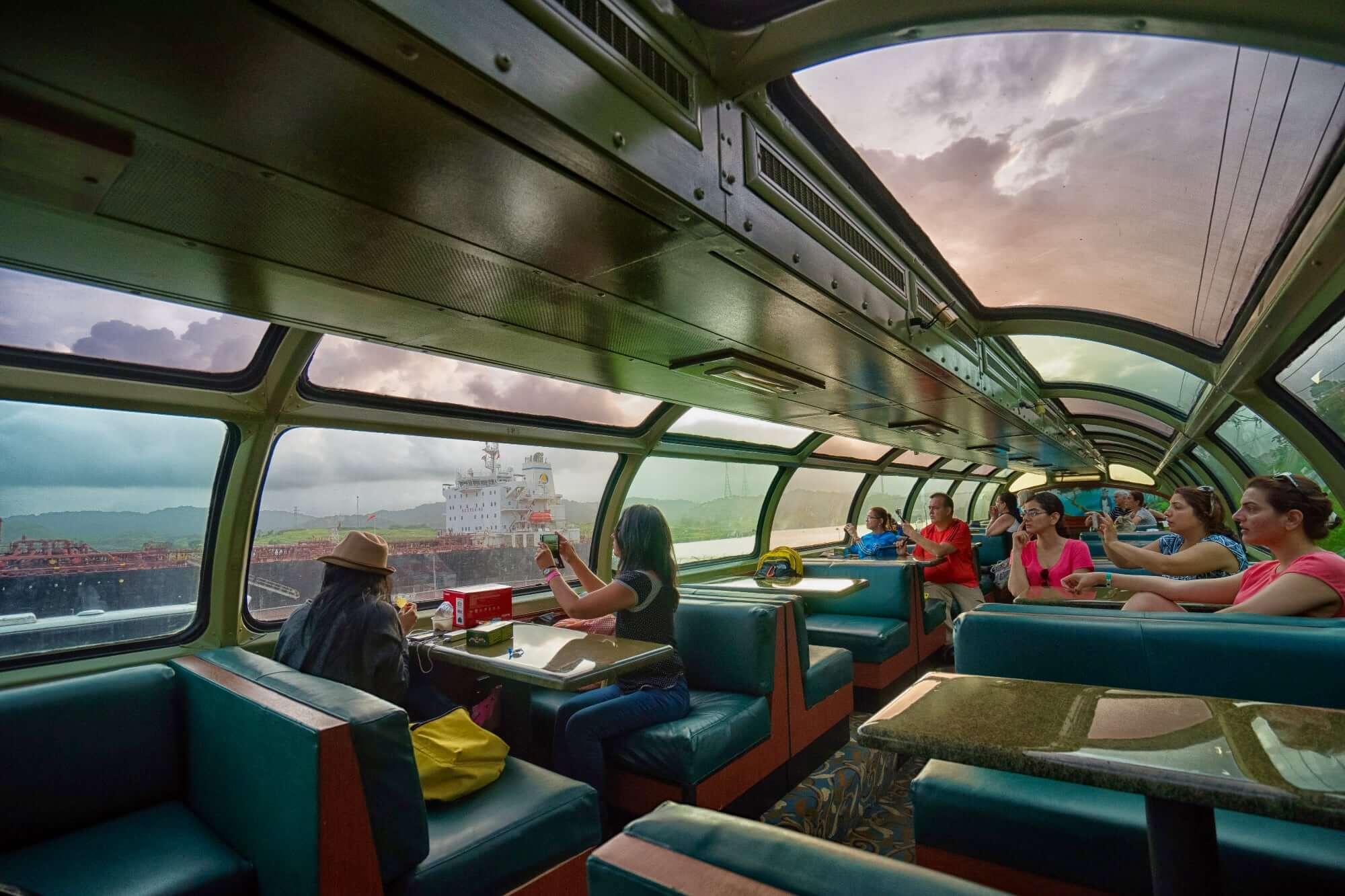 Dome Car of the Transoceanic Train or Panama Canal Railway, Panama