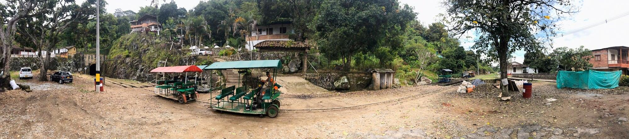 Antioquia Railroad between Medellin and Puerto Berrio at the entrance of the La Quiebra Tunel