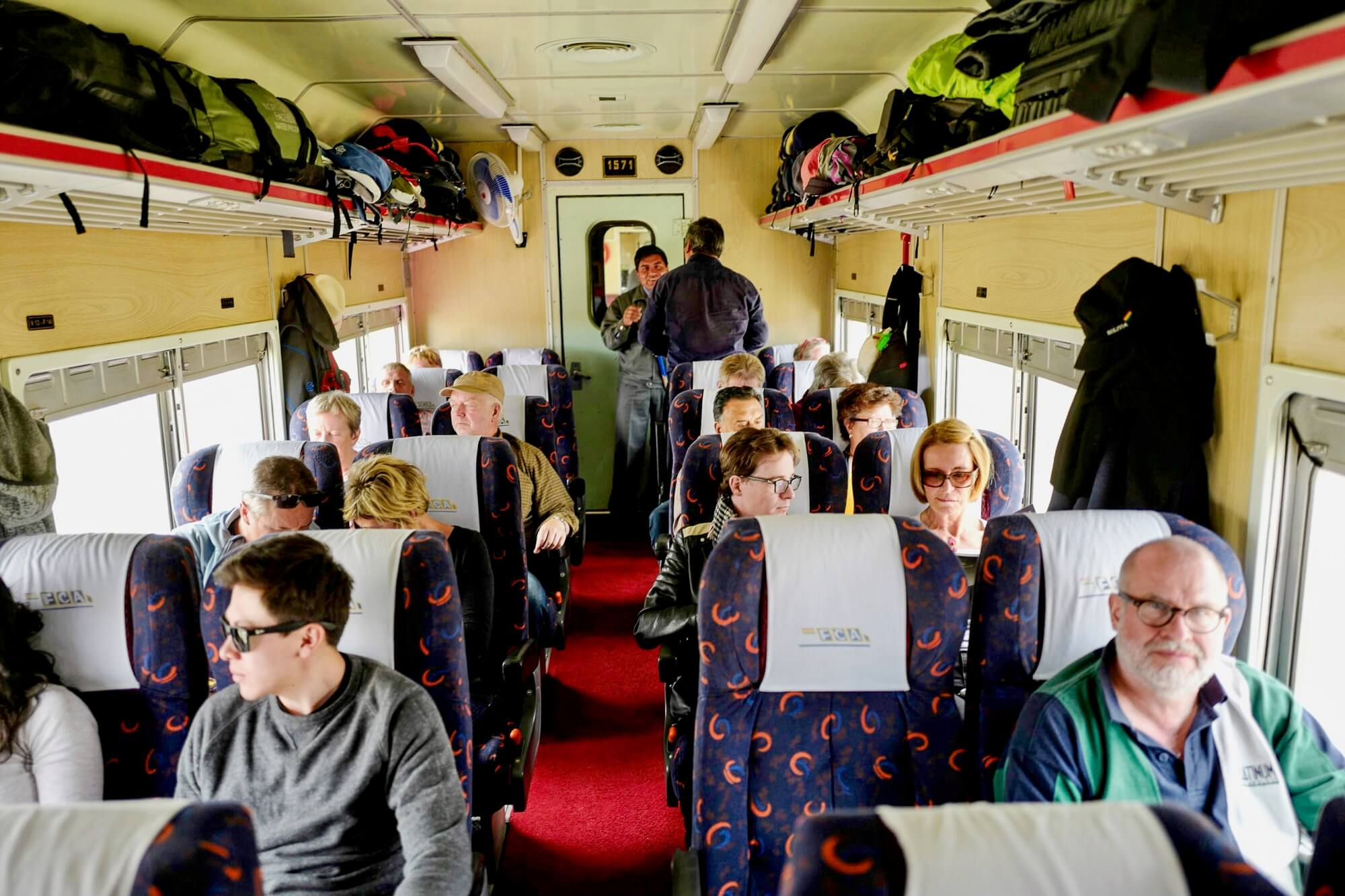 Inside a Passenger Carriage of the Expreso del Sur between Oruro and Villazon, Bolivia
