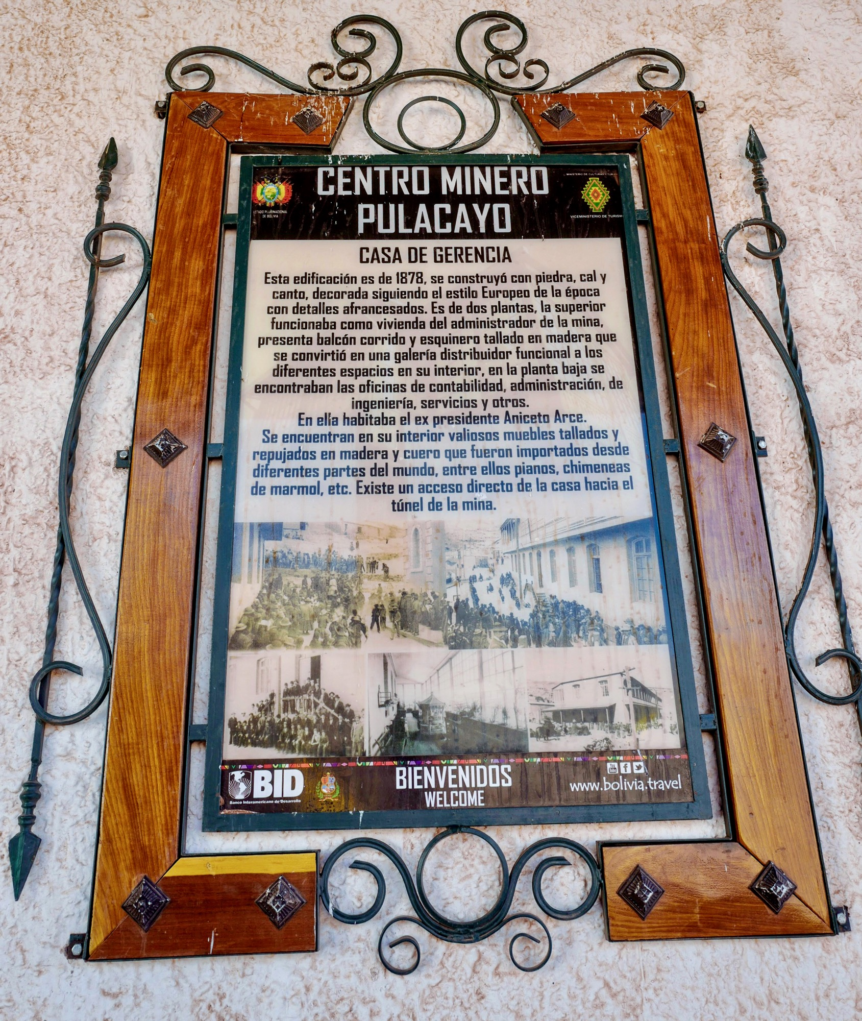 Placa Casa Arce, Mining Site Pulacayo, Bolivia