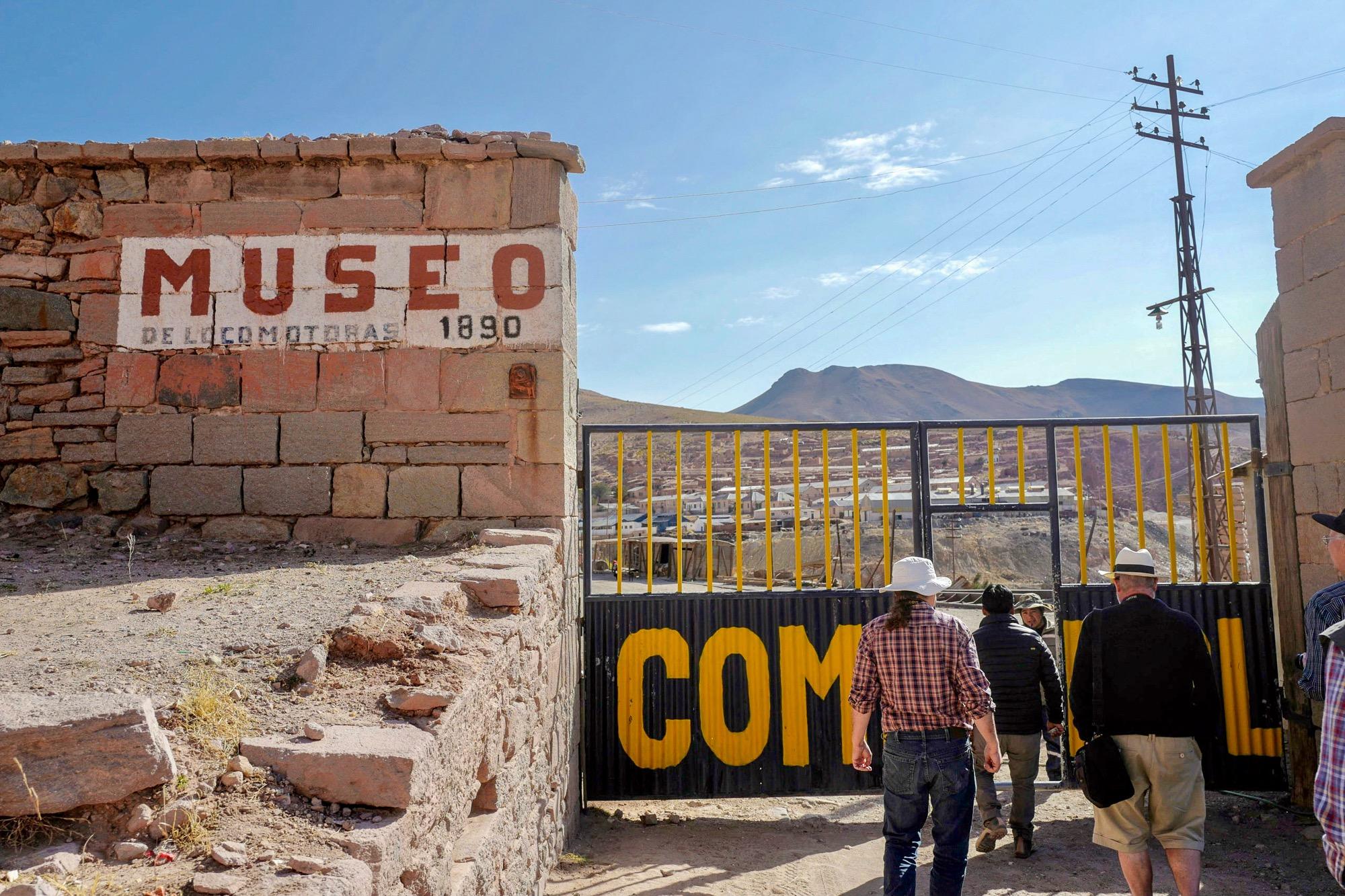 Entrance to the Pulacayo Mining City