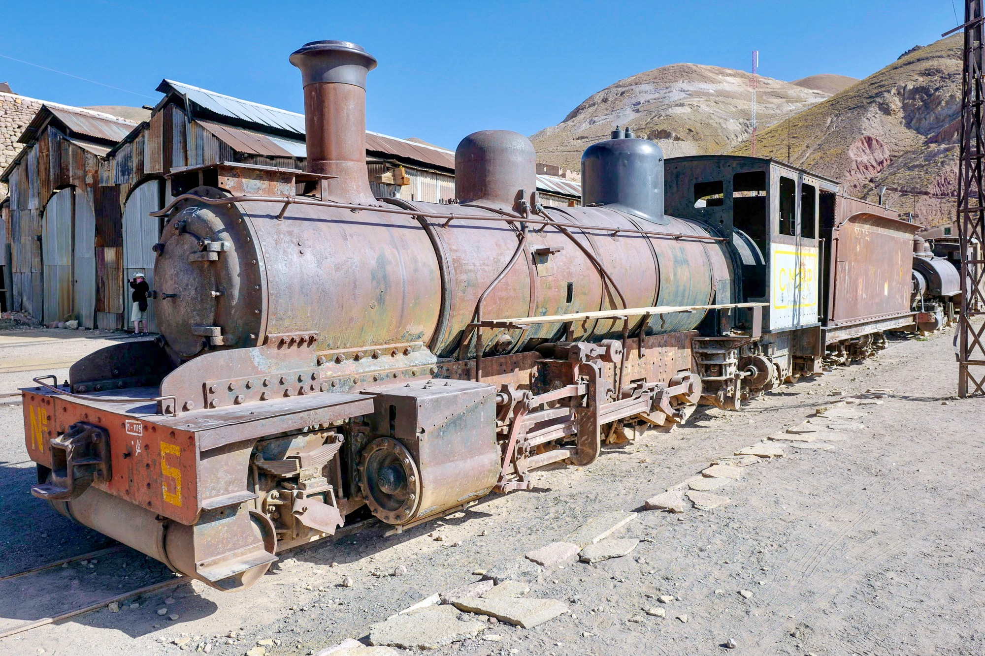 Abandoned Steam Locomotive in Pulacayo, Bolivia