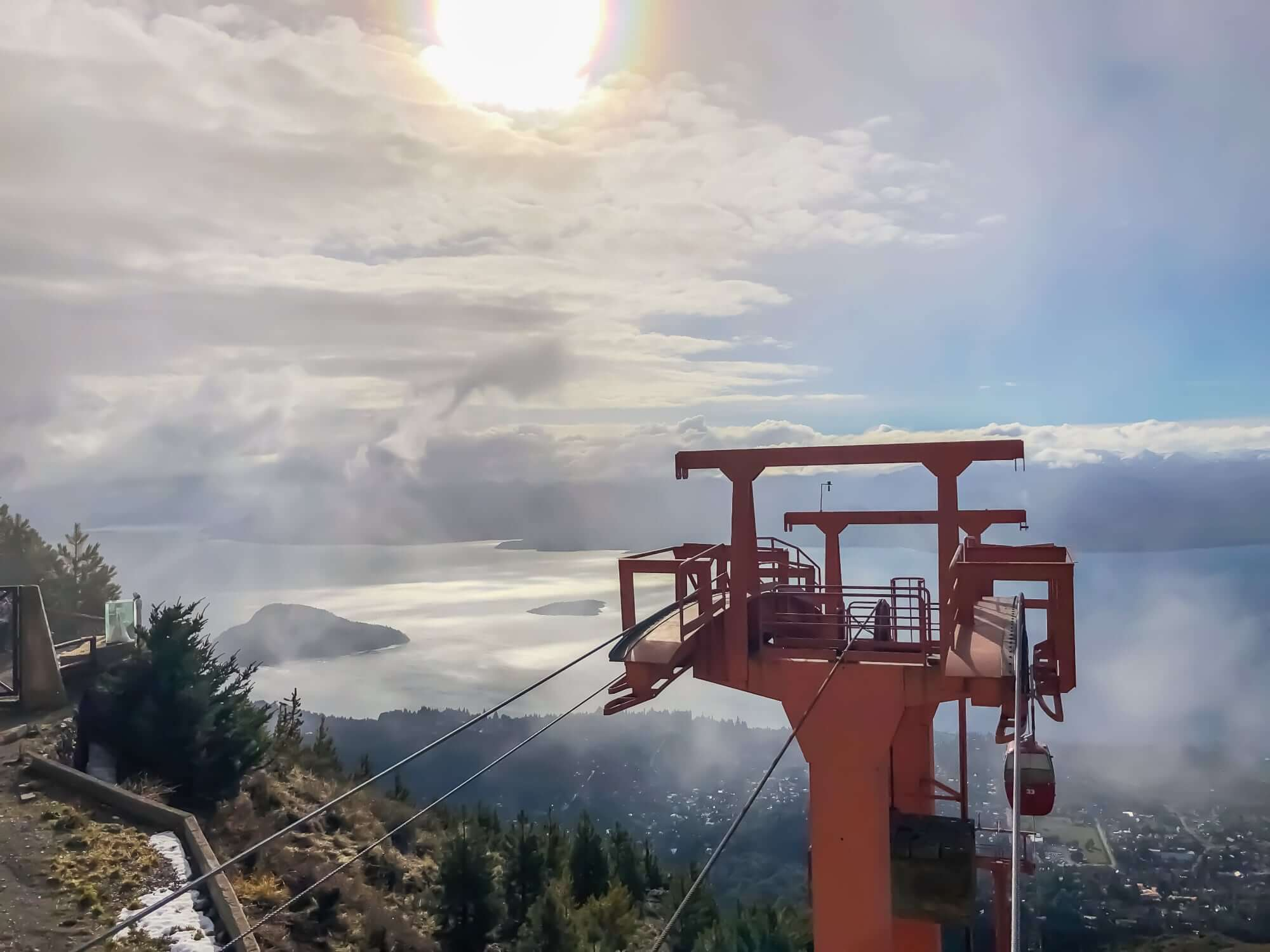 View from Cerro Otto over the Lake Nahuel Huapi and Bariloche