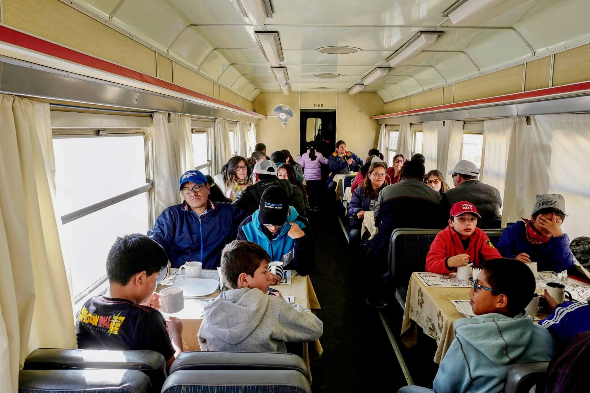 Dining Car Wara Wara Express, Bolivia