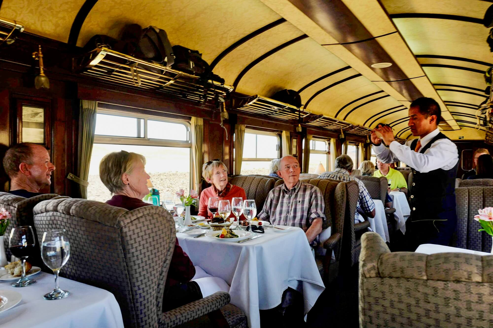 Perurail Titicaca Train Dining Car, Peru