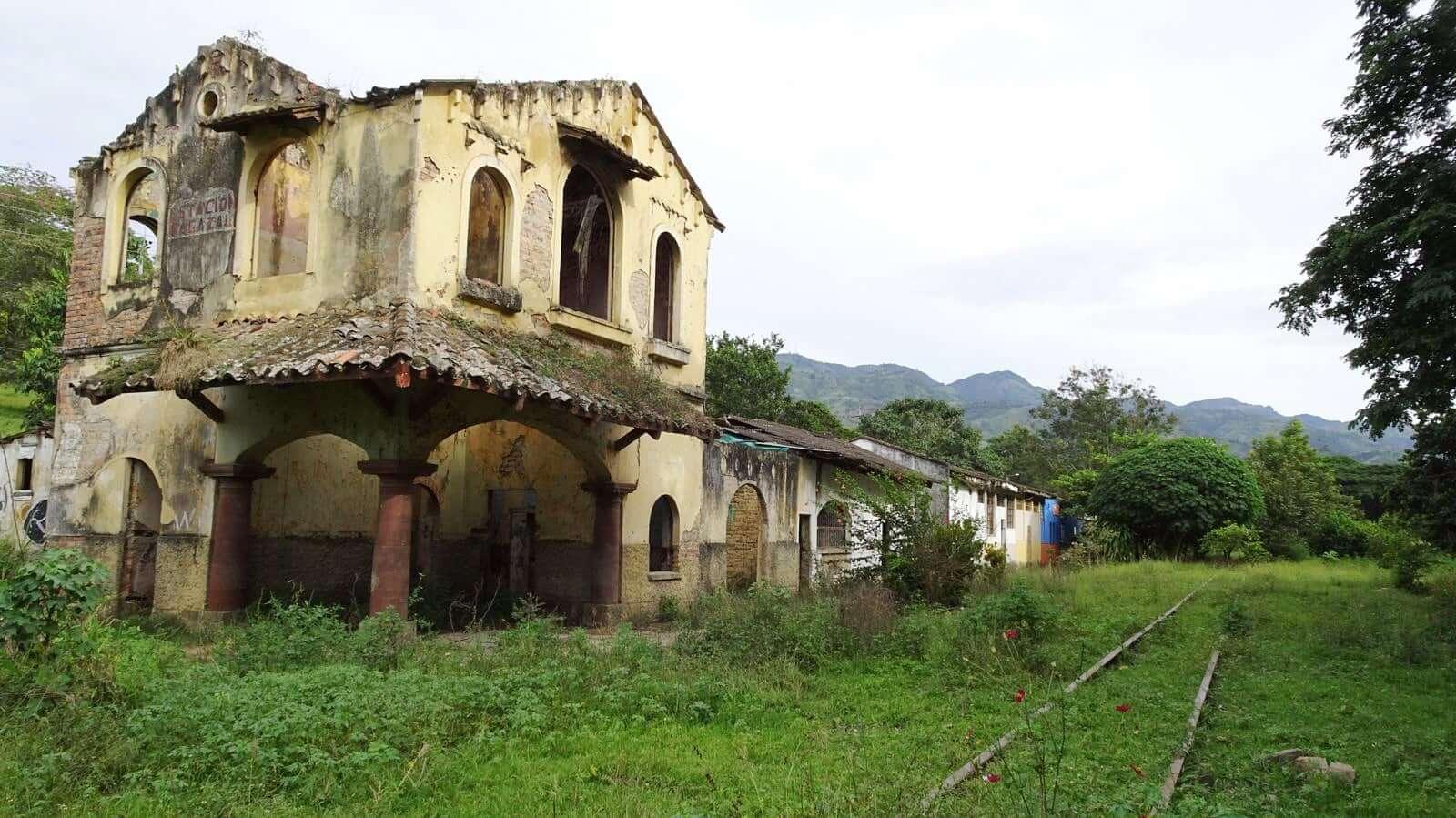 Bagazal Railway Station near Villeta, Cundimarca, Colombia