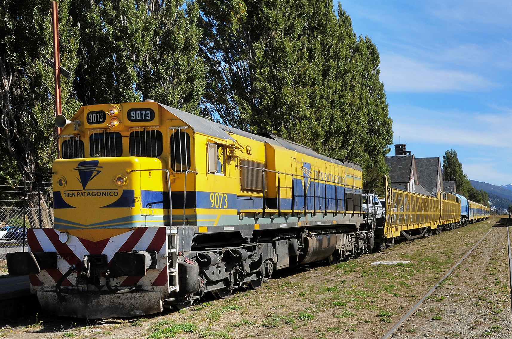 Tren Patagonico in Bariloche ready for the departure to Viedma