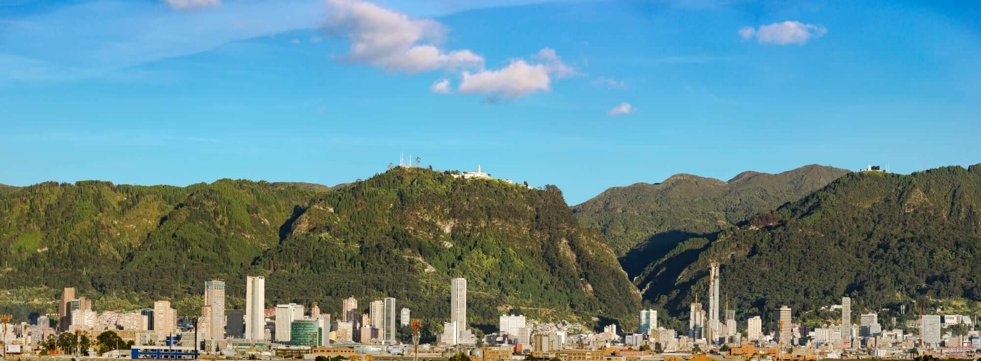 Bogota with Monserrate Hill andSancutary