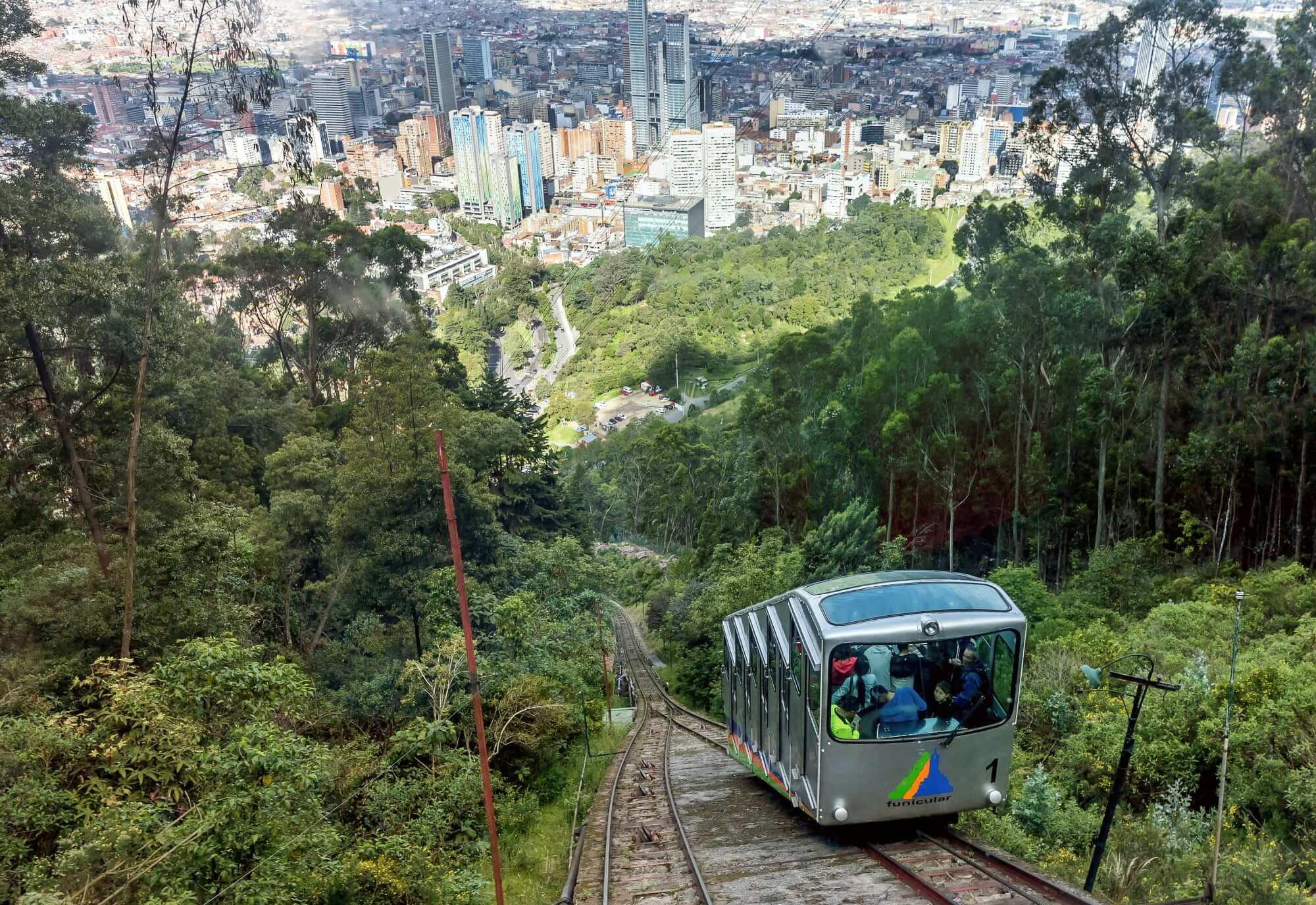 Funicular to Monserrate Hill, Bogota, Colombia