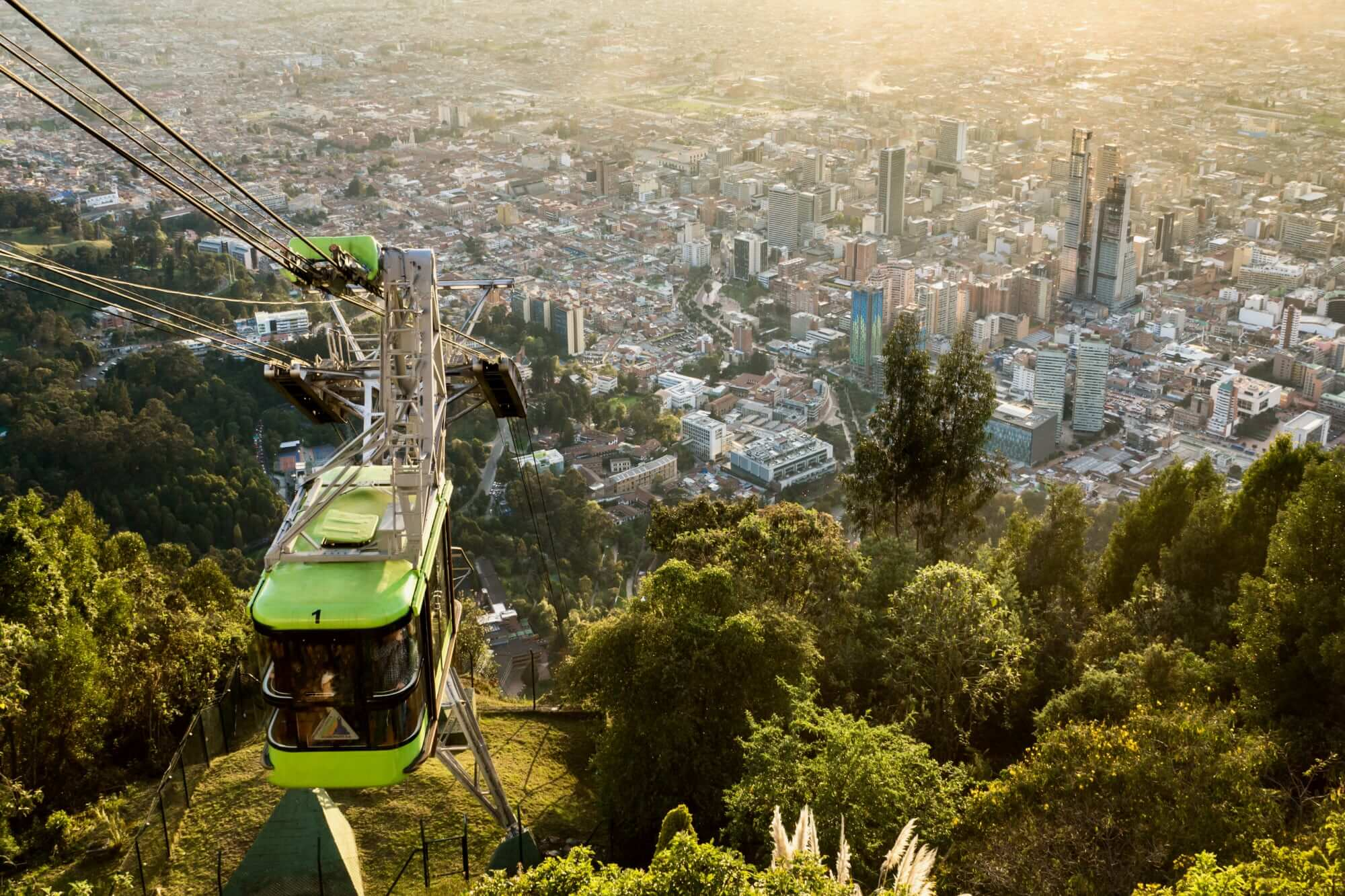 Cable Car to Monserrate Hill, Bogota, Colombia