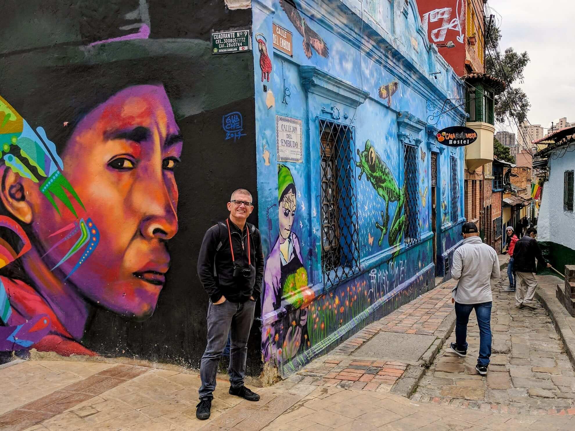 Me at La Candelaria in Bogota, Colombia