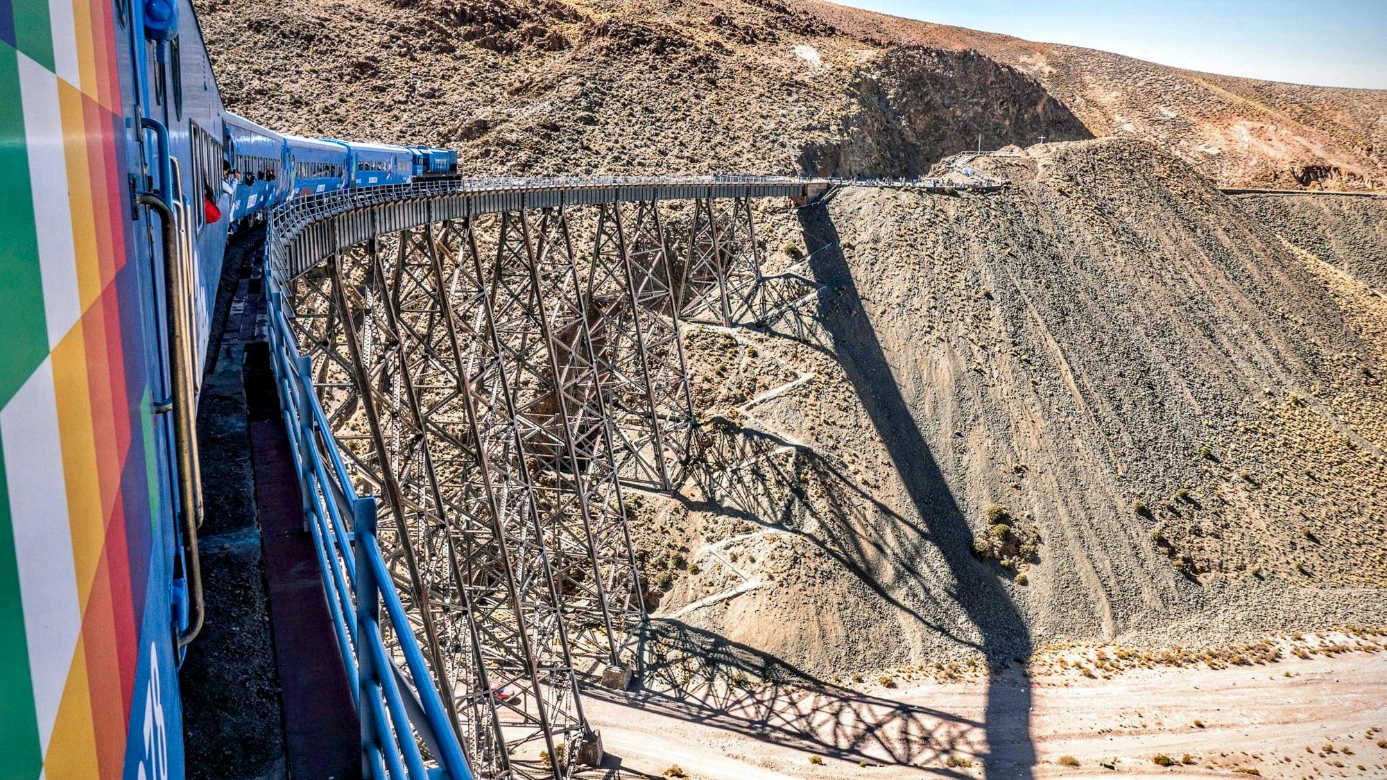 The Polvorilla Viaduct near San Antonio de los Cobres, Argentina