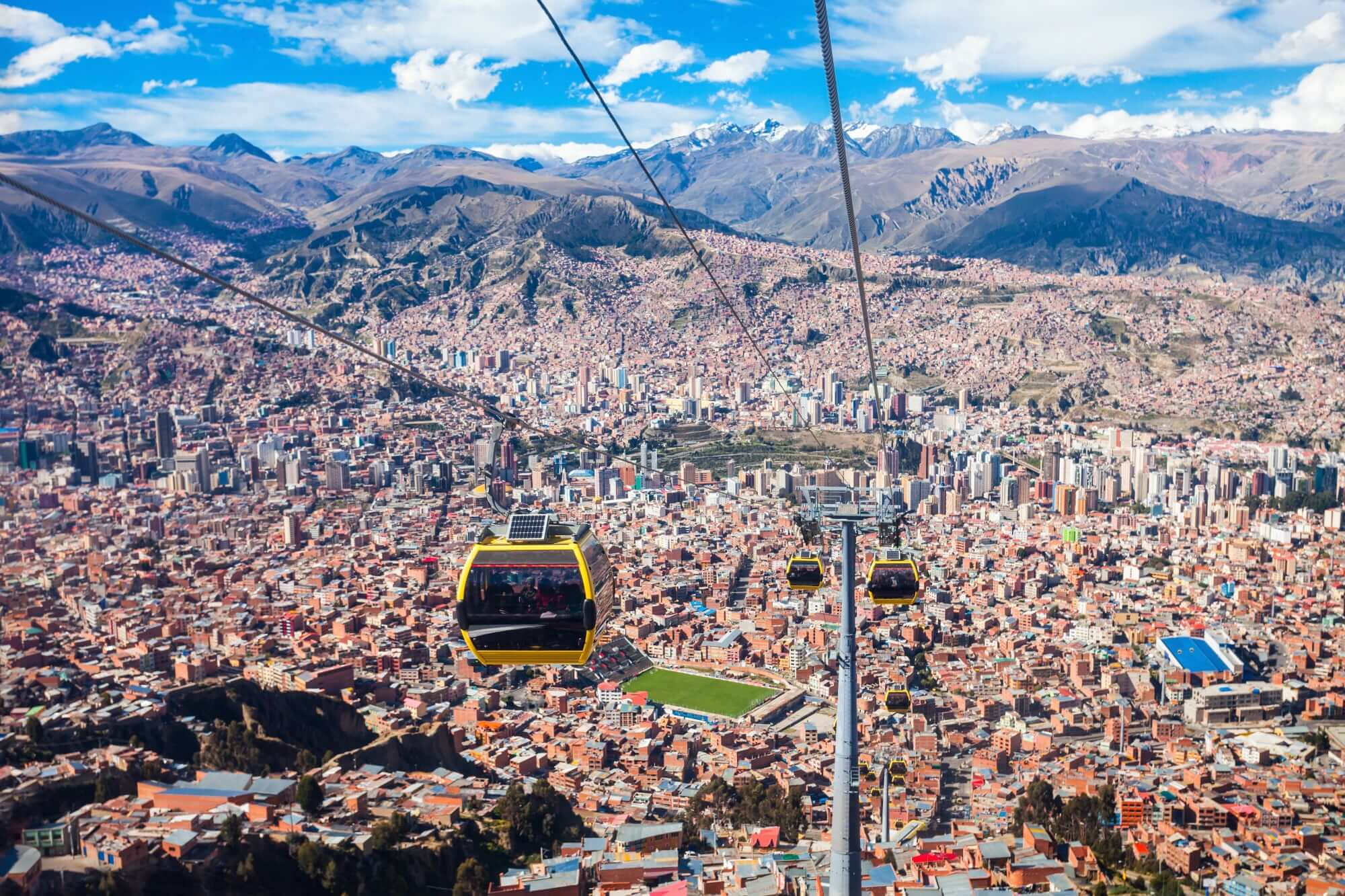 The city of La Paz, Bolivia