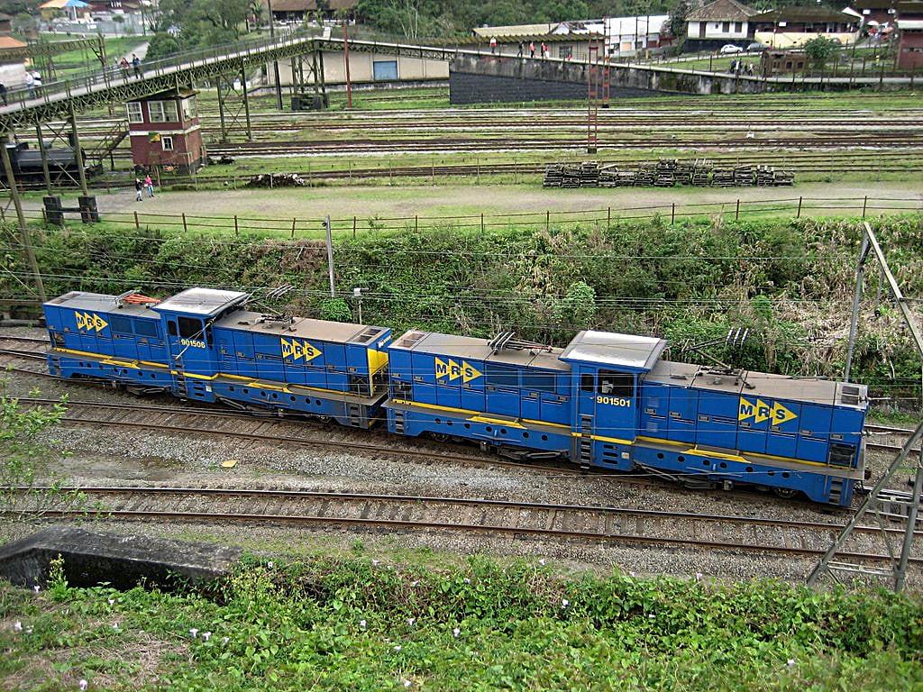 Cogwheel Locomotives Paranapiacaba, Brazil