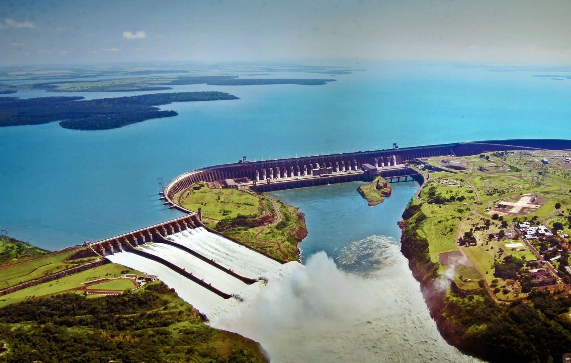 Itaipu Dam between Brazil and Paraguay