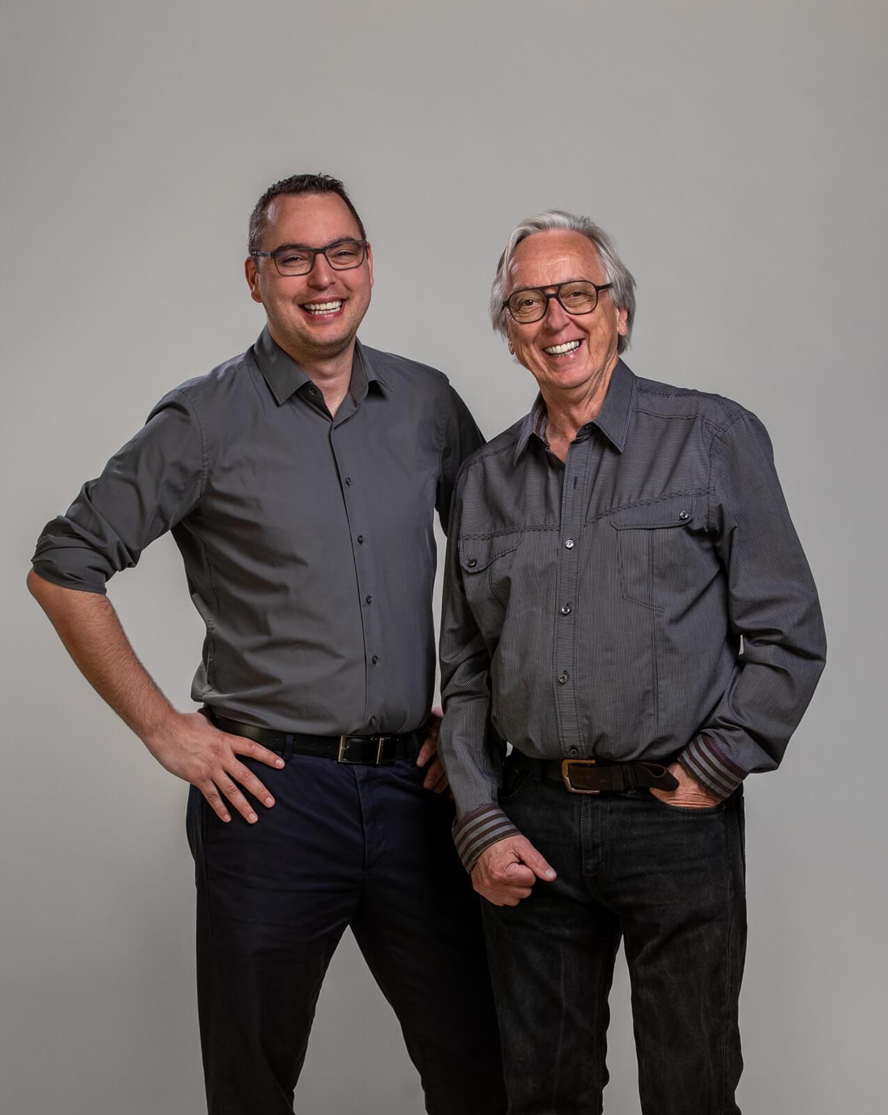 Die Geschäftsführer Dominic und Heinz Aebi.