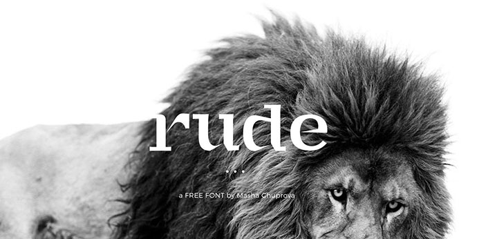 Rude - Free Handcrafted Serif Font