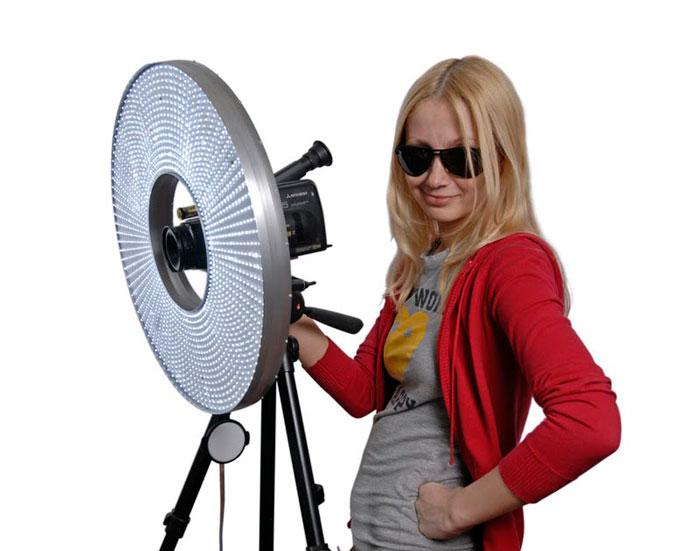 кольцевая лампа прожектор для съемки видео