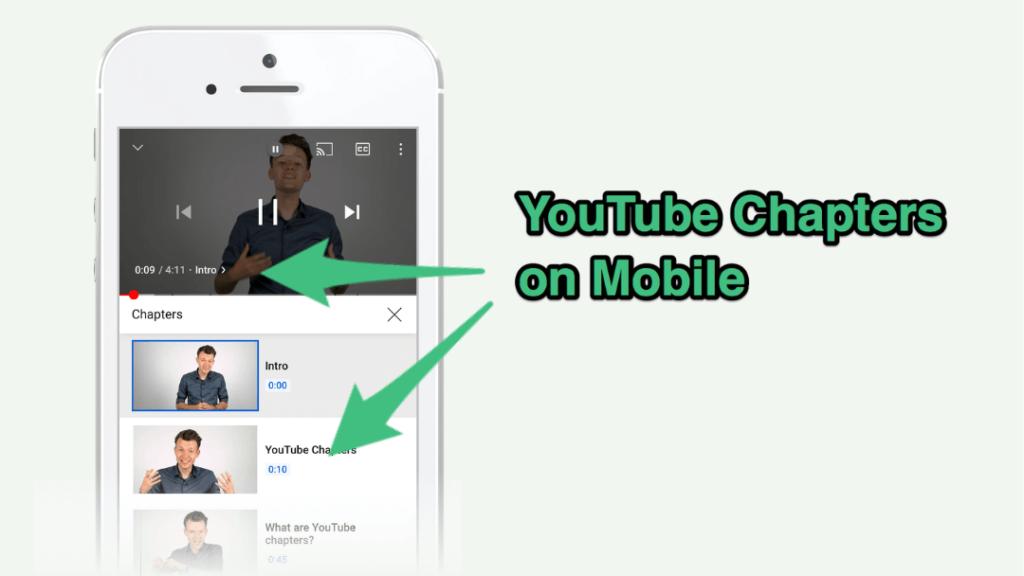 главы YouTube на мобильных устройствах