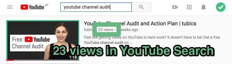 разные просмотры YouTube в поиске