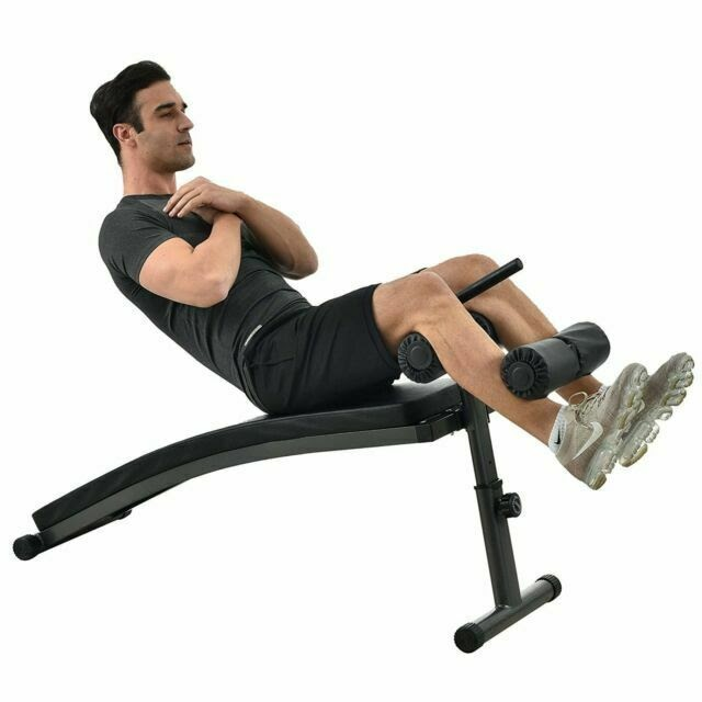 Finer Form Sit up Bench With Reverse Crunch Handle for AB Exercises Black  for sale online | eBay
