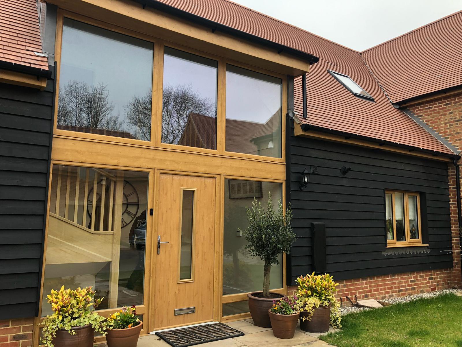 A converted barn exterior