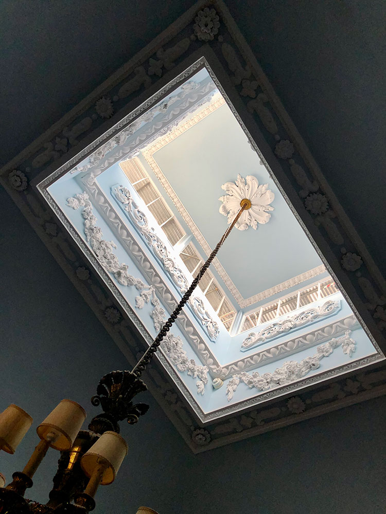 A beautifully painted ceiling