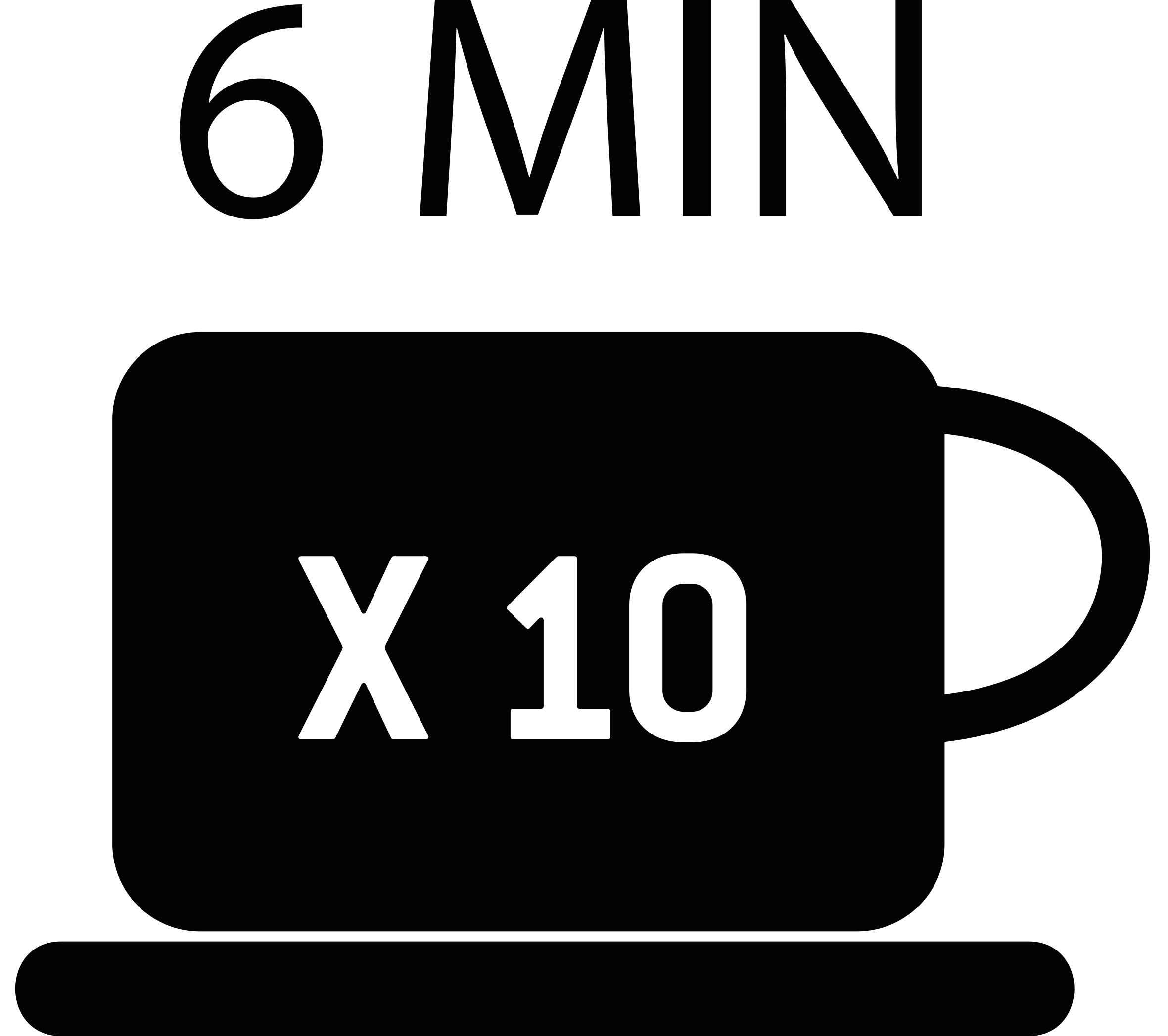 Schnelle Zubereitung 10 Tassen in 6 Minuten Icon