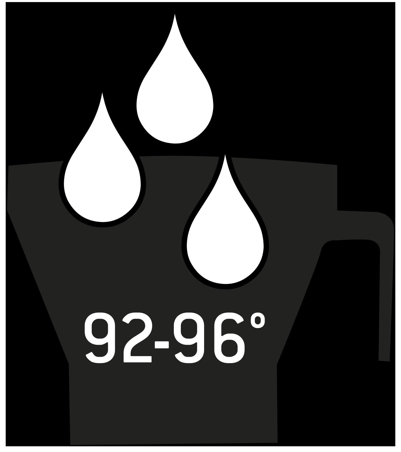 Perfekte Brühtemperatur 92-96 Grad Icon
