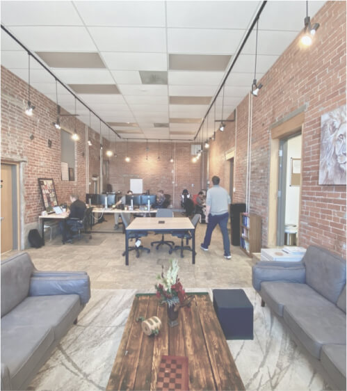 The inside of Intrinio's Colorado Springs office