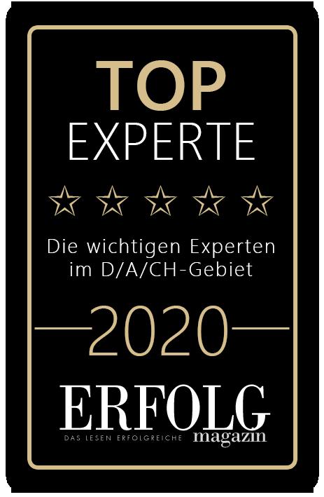 Top Experte 2020 ausgezeichnet vom ErfolgsMagazin