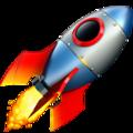 Emoji représentant une fusée qui signifie que l'activité décolle !
