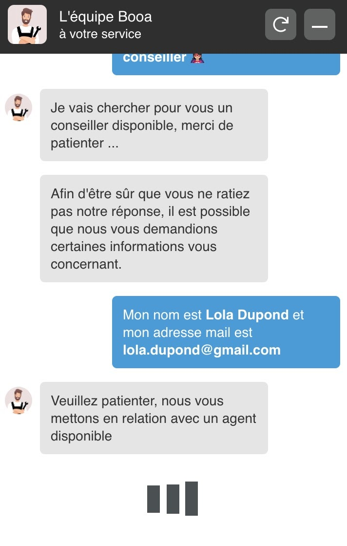 Live-chat Booa