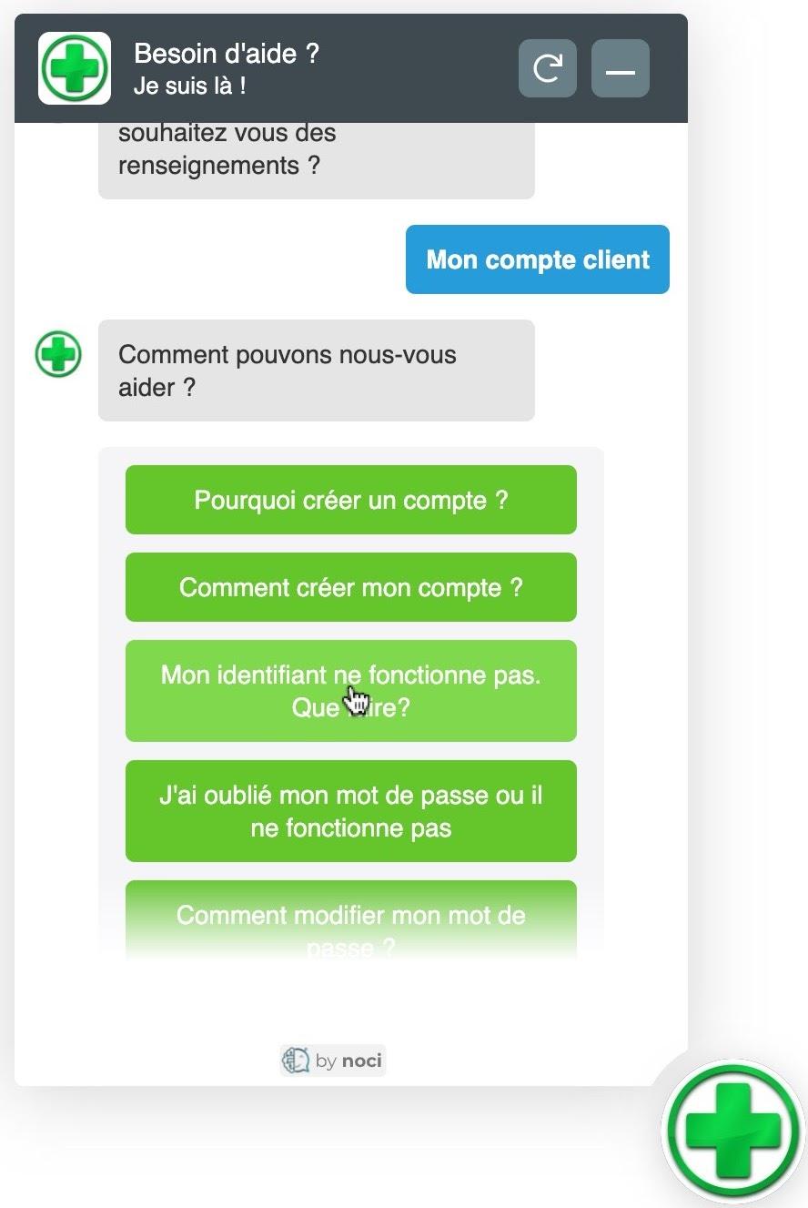 Capture d'écran chatbot Noci 3