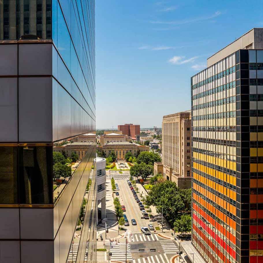 Downtown Oklahoma City street view