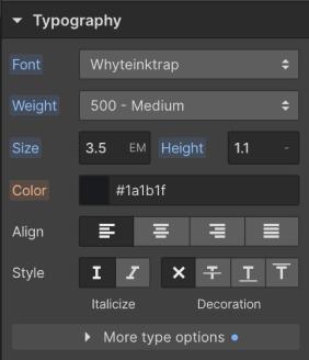 Webflow Typography