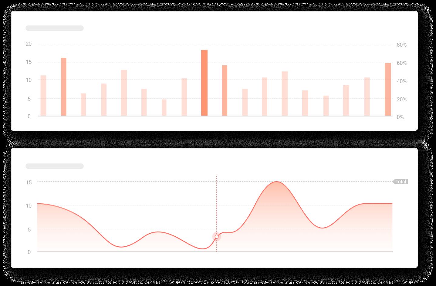 Graphs representing data analytics and statistics