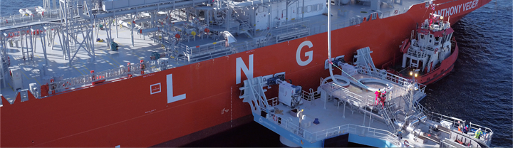 LNG unloading operation with UTS