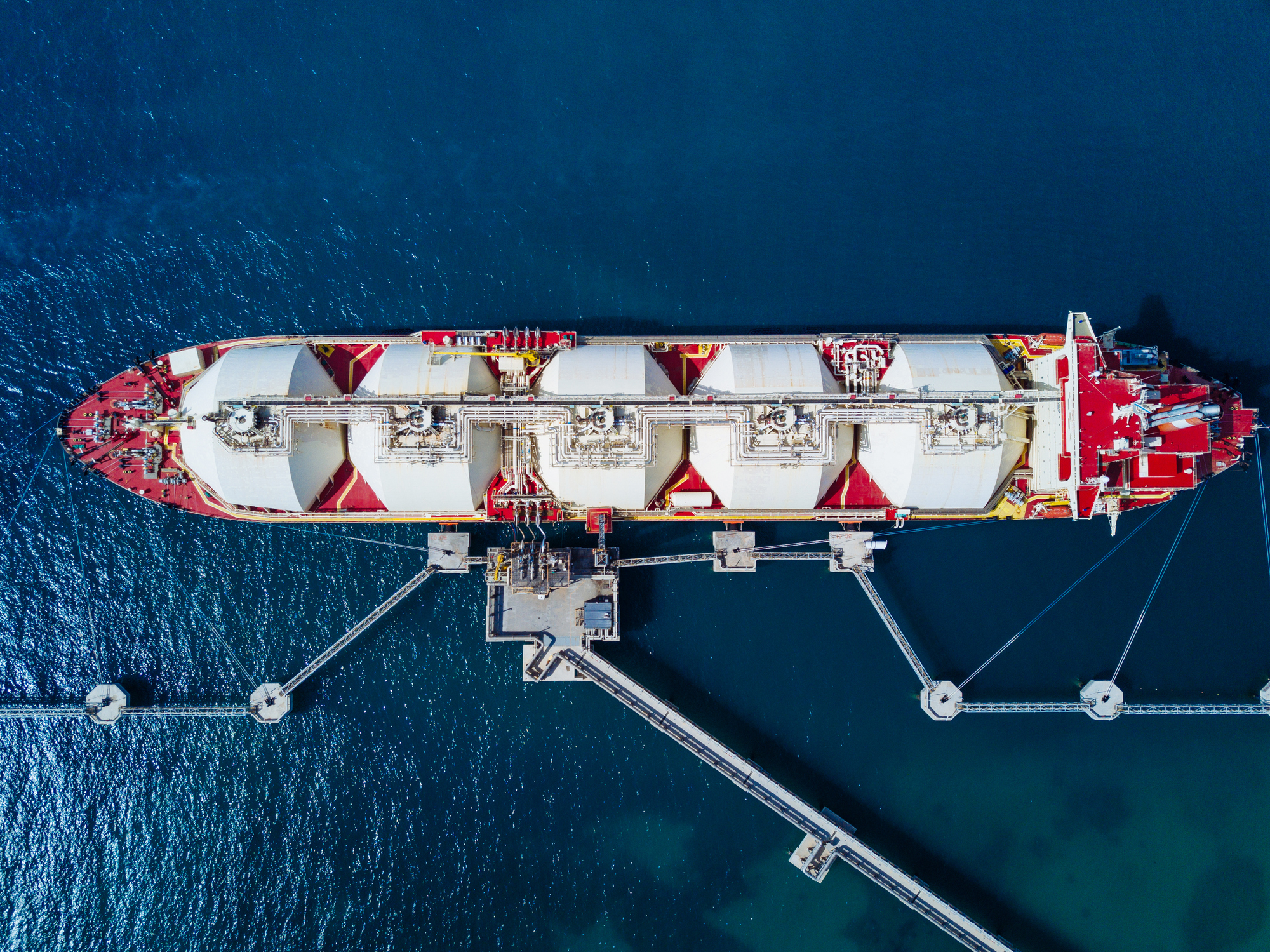 Construction of an LNG jetty